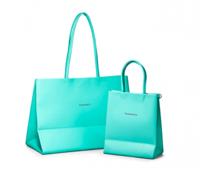 Tiffany & Co. Has Transformed Their Iconic Shopping Bag Into Leather Totes